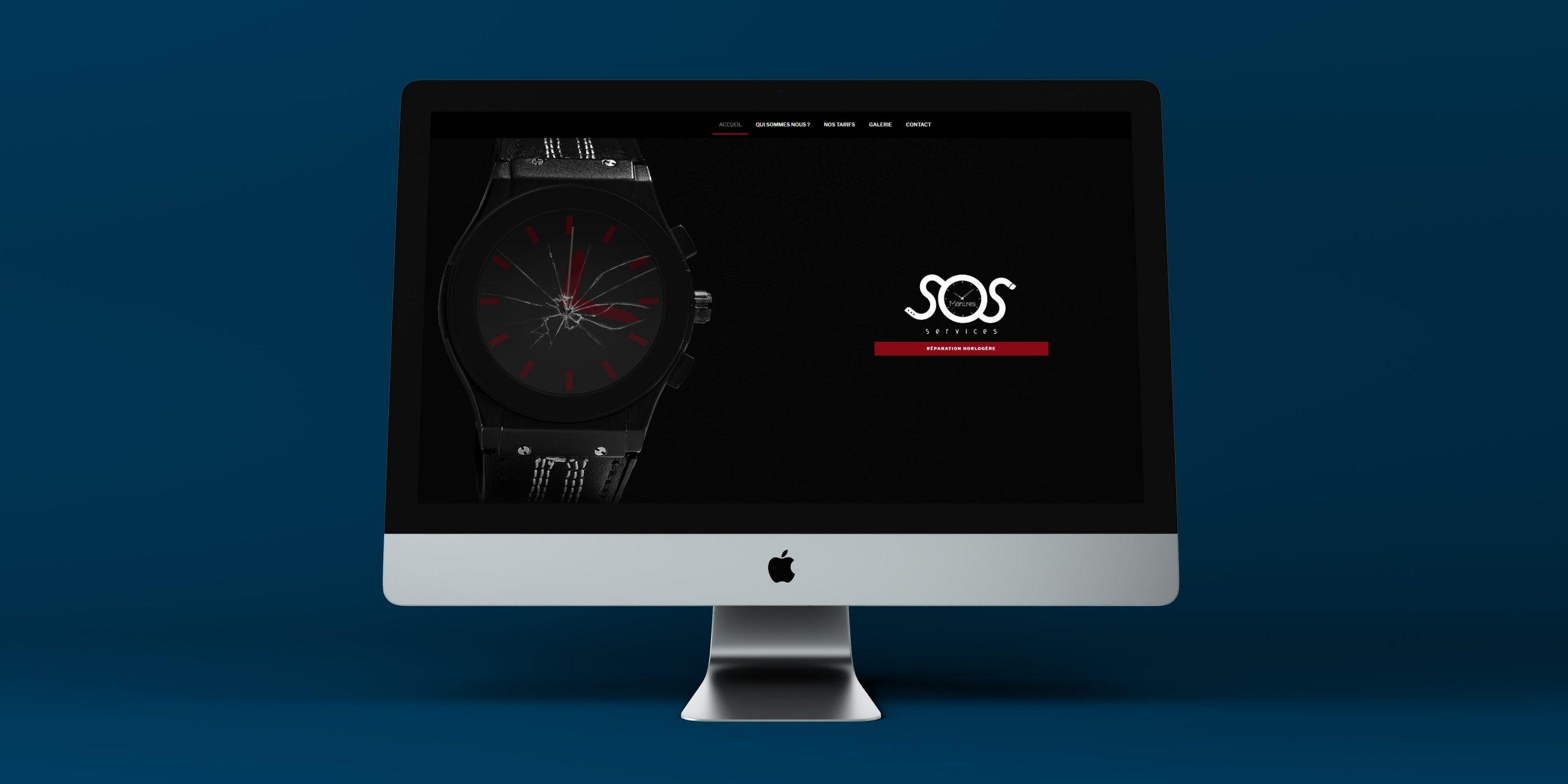 Création du site sos montres services, réparateur horloger, par inu Média dans le Doubs