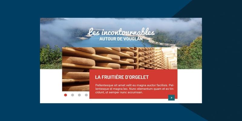 Projet fictif Inu Média création du site internet pour Vouglan