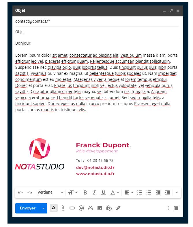 Inu Média créateur de site internet en Franche Comté et intégrateur web - création de signatures HTML personnalisées
