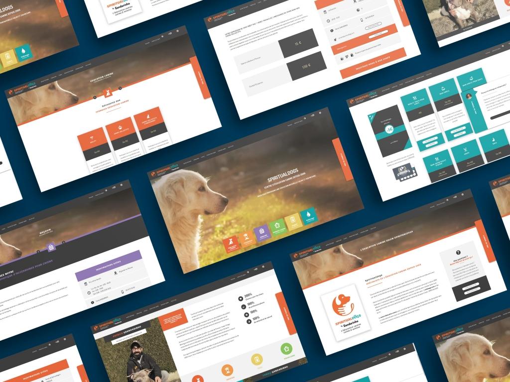 Inu Média conception du site internet Spiritualdogs educateur canin à Pérouse