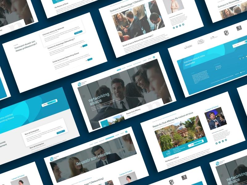 Réalisation du webdesign du site networking Alsace par Inu Média dans le Doubs