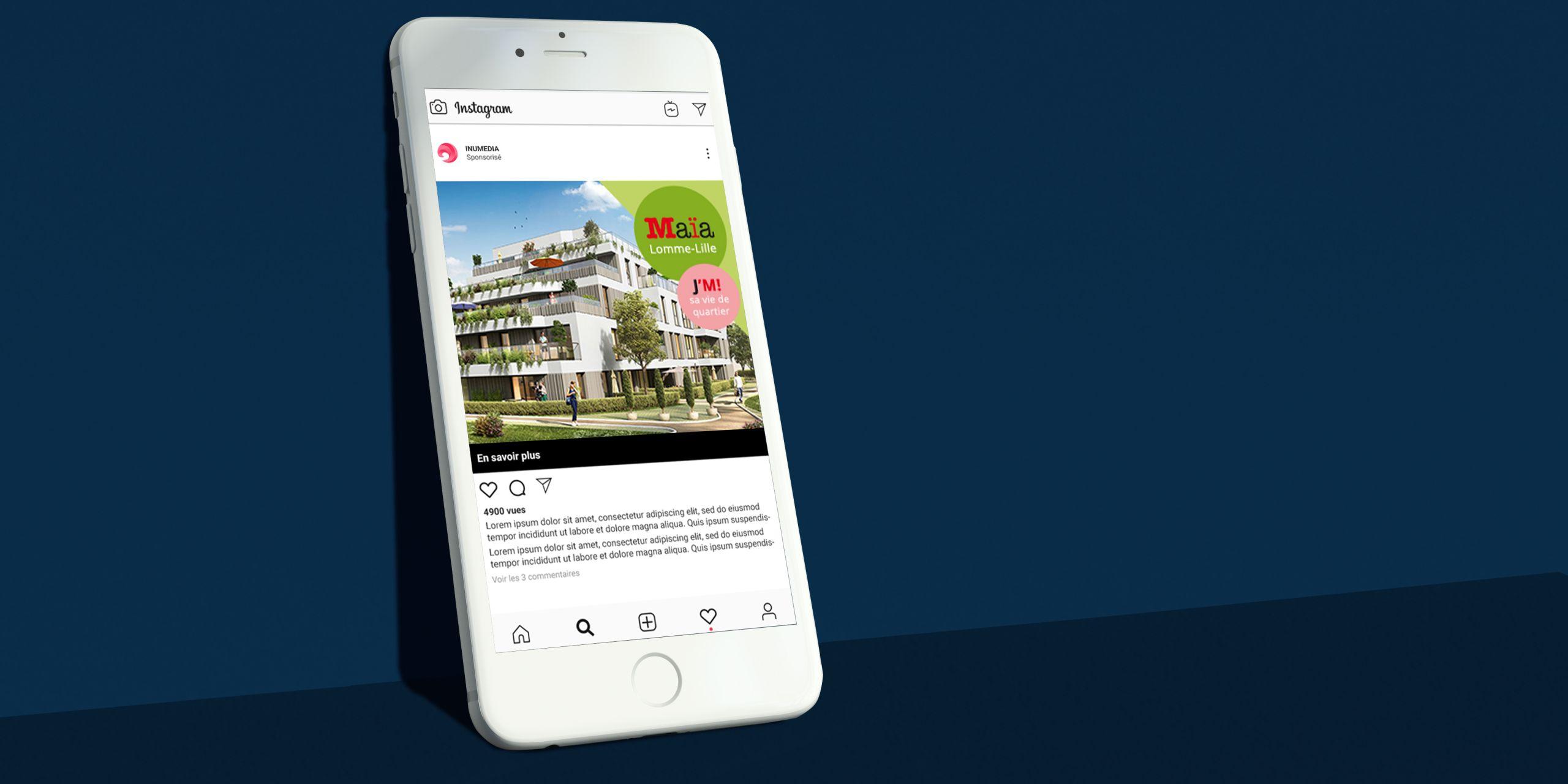 Inu Média projet immobilier conception de bannières adwords animées