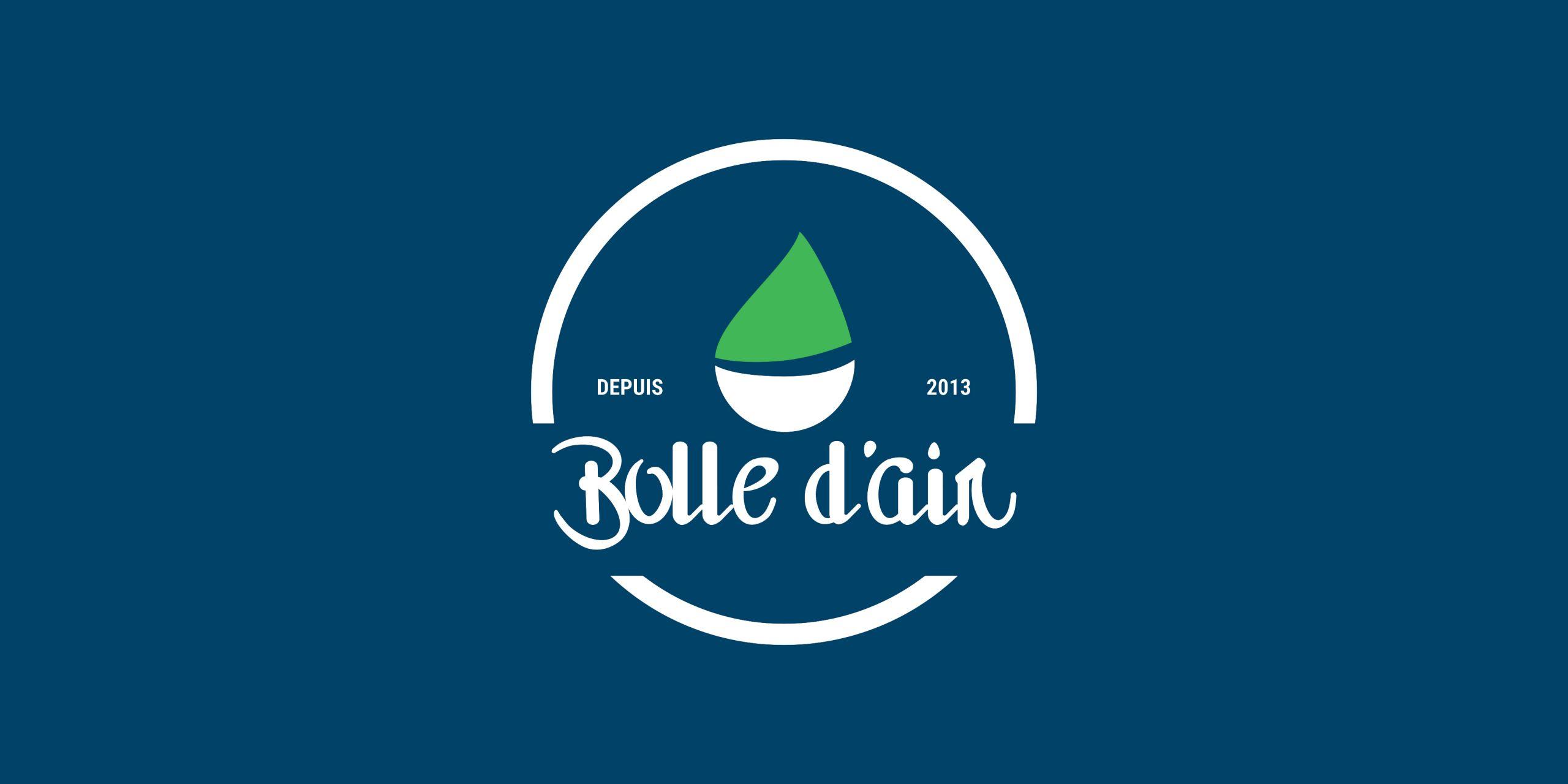 Création du logo bolle d'air paysagiste par inu Média dans le Doubs
