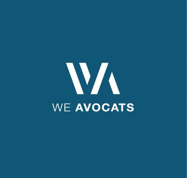 Logo We avocats réalisé par Chloé Marché graphiste à Belfort