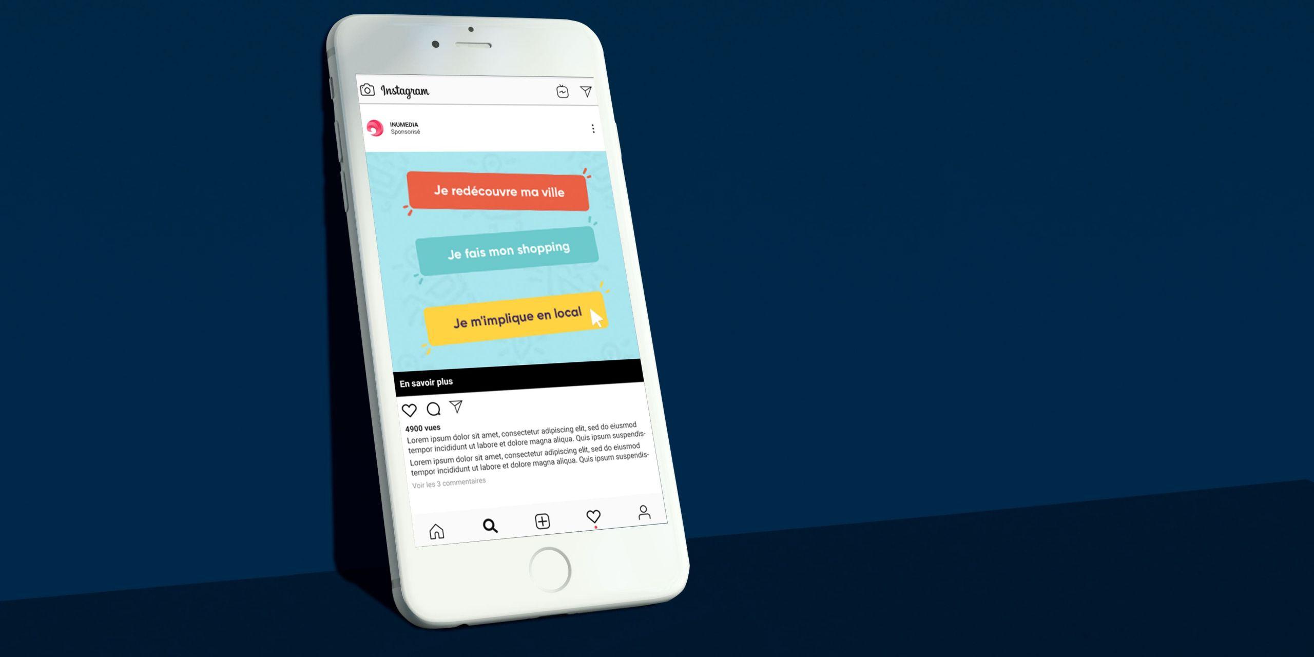Visuel campagne AdWords En bas de Chez moi réalisé par Inu Média créateur de sites internet WordPress et intégrateur Web en Franche-Comté
