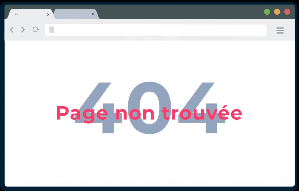 Erreur 404 - Inu mEdia corrige les bugs de votre site Wordpress