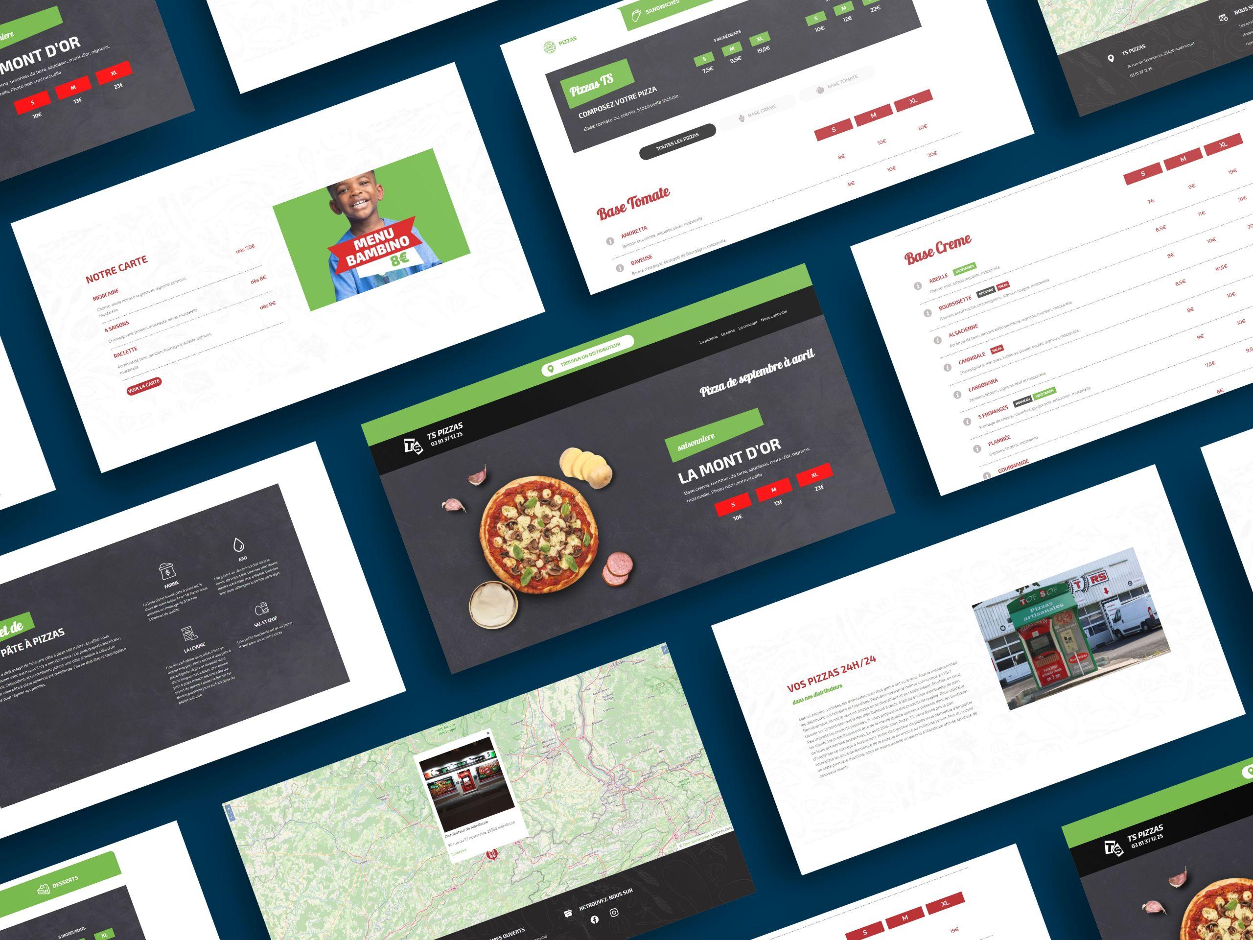 Création de site internet Pizzas TS par Inu Media