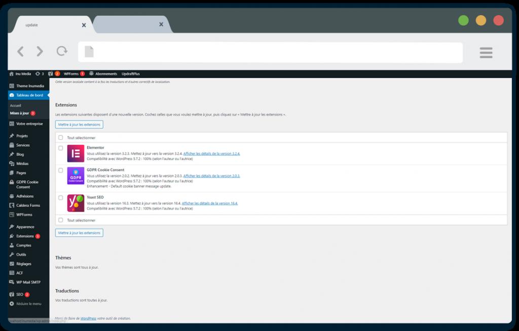 Inu Média créateur de sites internet en Franche-Comté maintenance et mise à jour de vos thèmes et plugins