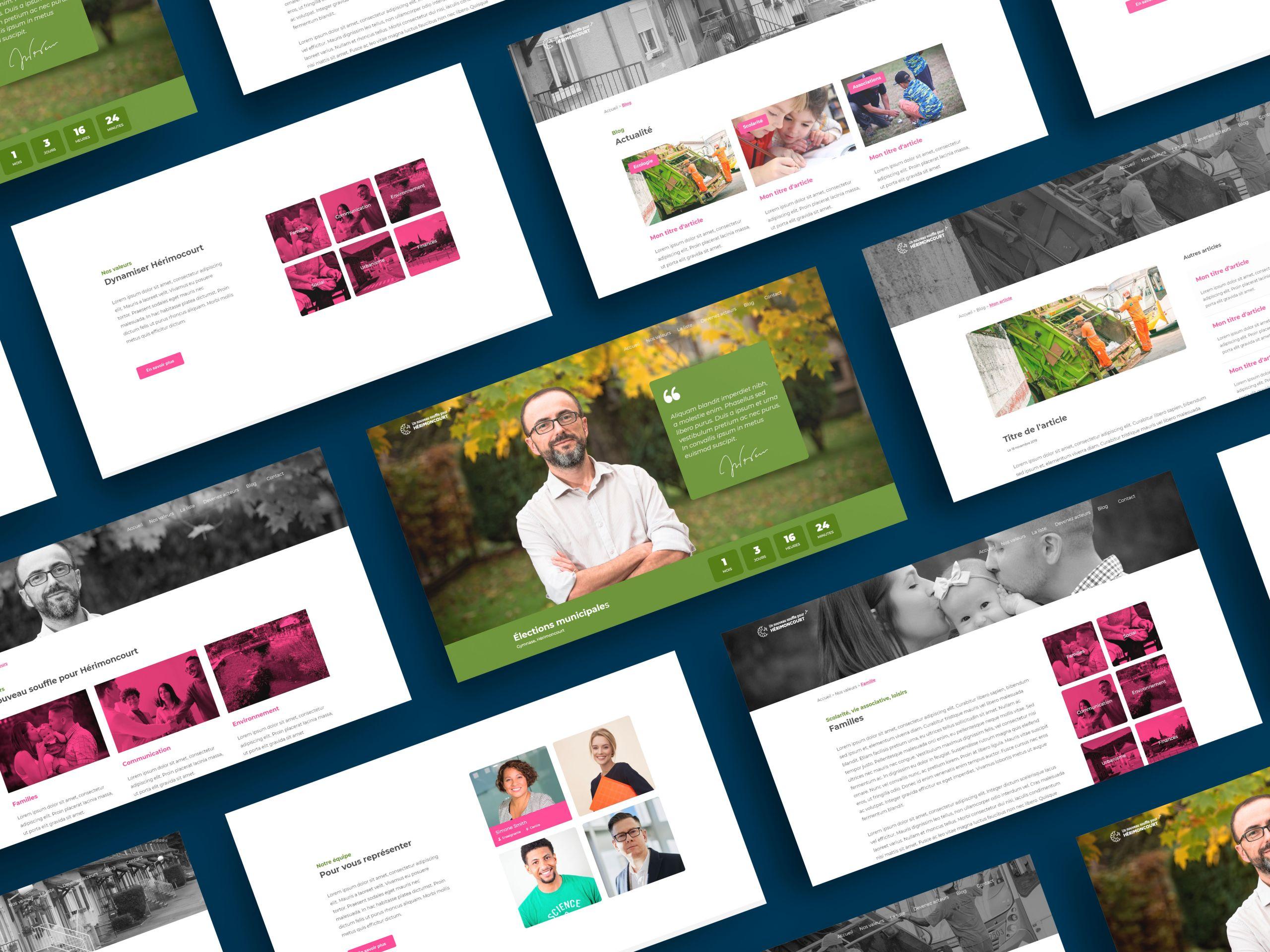 création d'un site internet pour des municipales de 2020